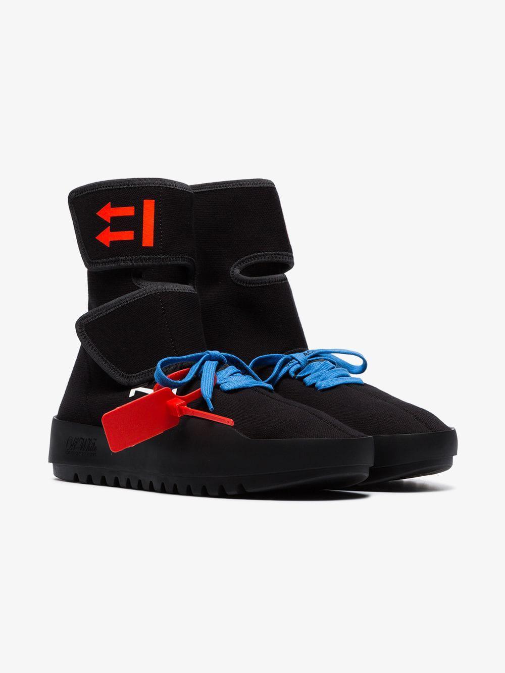 ce2d3b446d4e Lyst - Off-White C O Virgil Abloh Black Moto Wrap Sneakers in Black for Men
