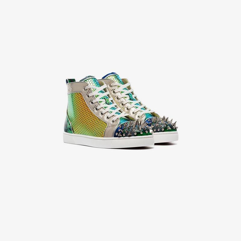 c3ef28ccfdd Christian Louboutin Multicoloured Lou Pik Pik Leather Sneakers for ...