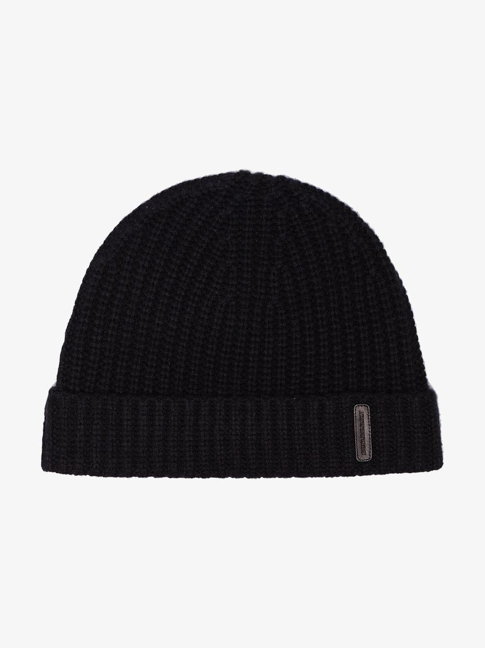 f19fee55ba0 Burberry Black Fisherman Knitted Cashmere Beanie Hat in Black for Men - Lyst
