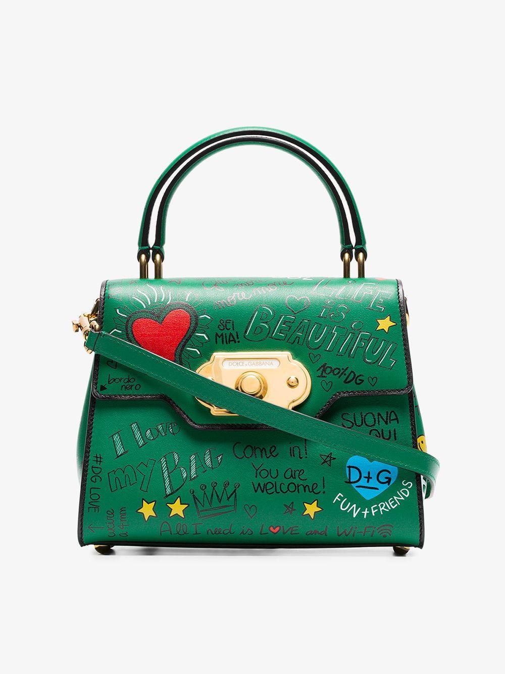 Dolce Gabbana - Green Welcome Graffiti Medium Shoulder Bag - Lyst. View  fullscreen half off  Dolce Gabbana. Womens Green Miss Sicily ... 5917b2545f
