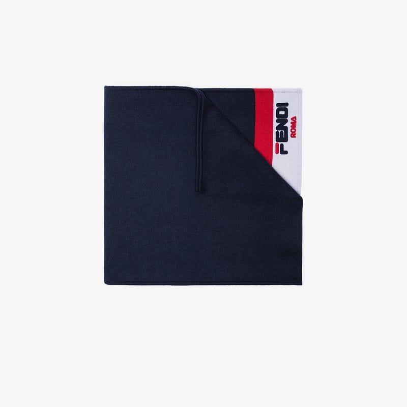 1d0bcdff4414 Fendi - Blue Mania Scarf - Lyst. View fullscreen