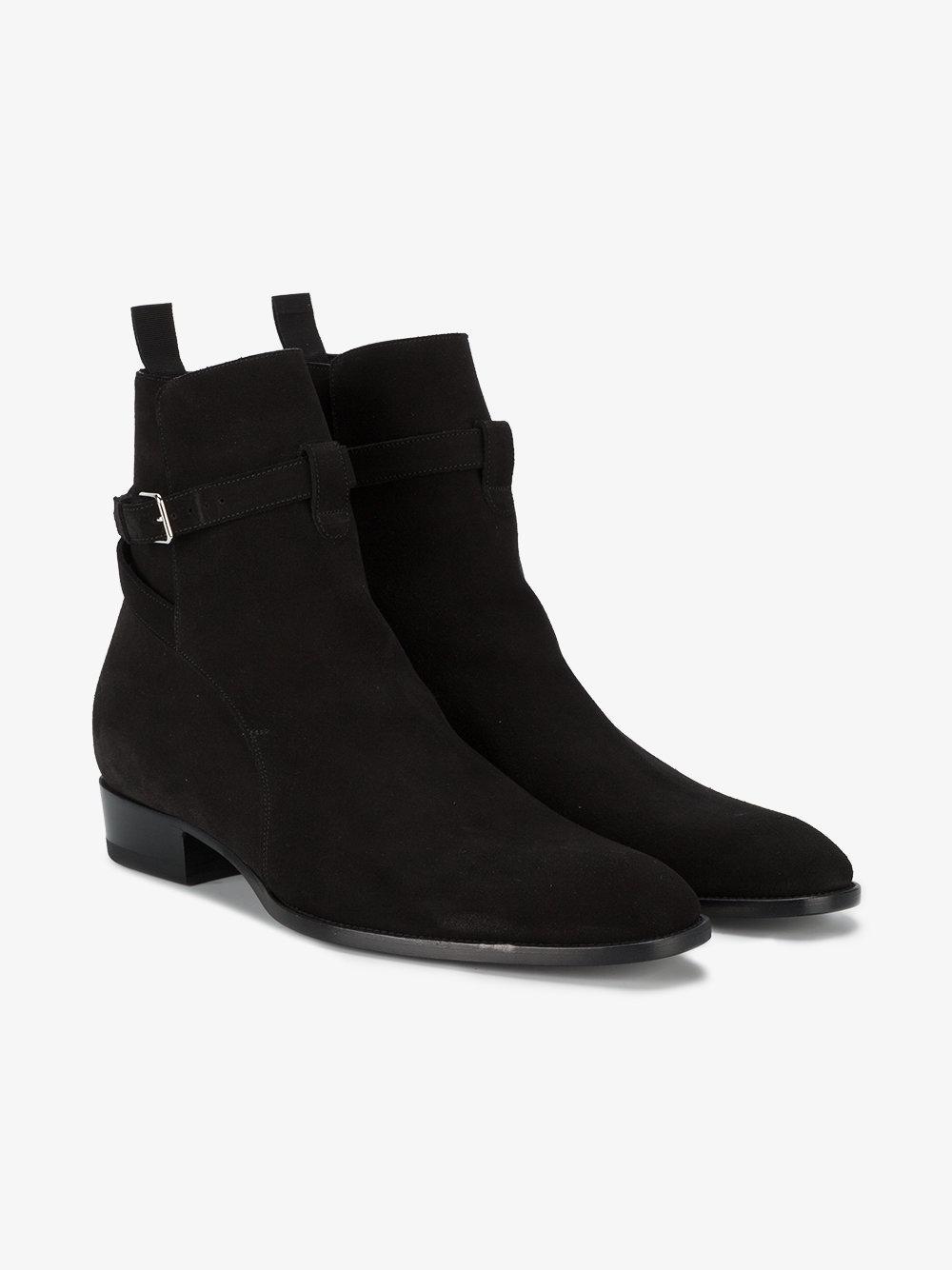 Saint Laurent Suede Wyatt 30 Jodhpur boots qZfKlx