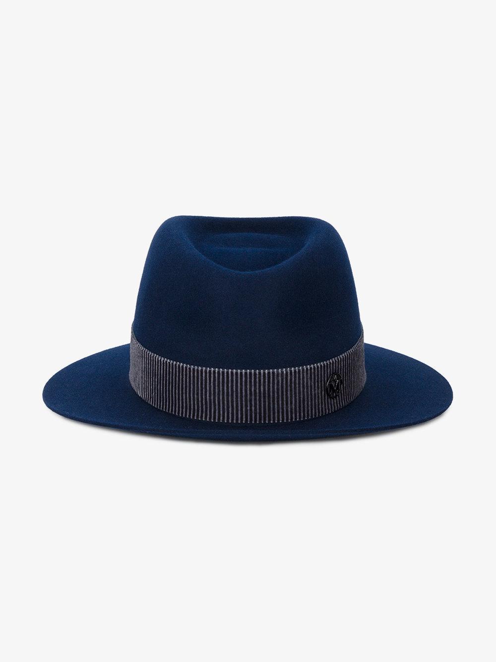 453371ec9ee Maison Michel André Trilby Hat in Blue for Men - Lyst