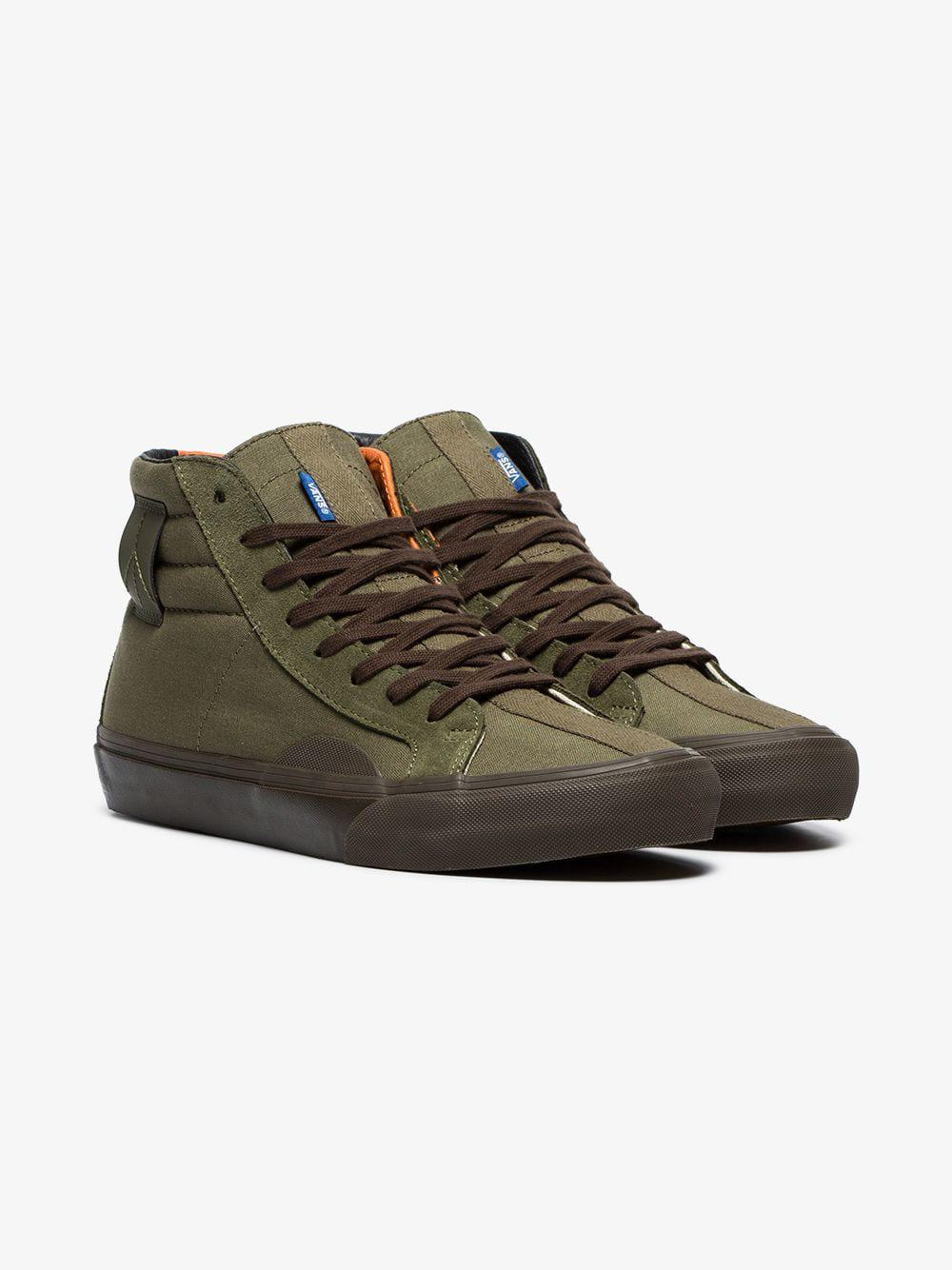 07e556e9a5 Vans Green Vault Cotton High Top Trainers in Green for Men - Lyst