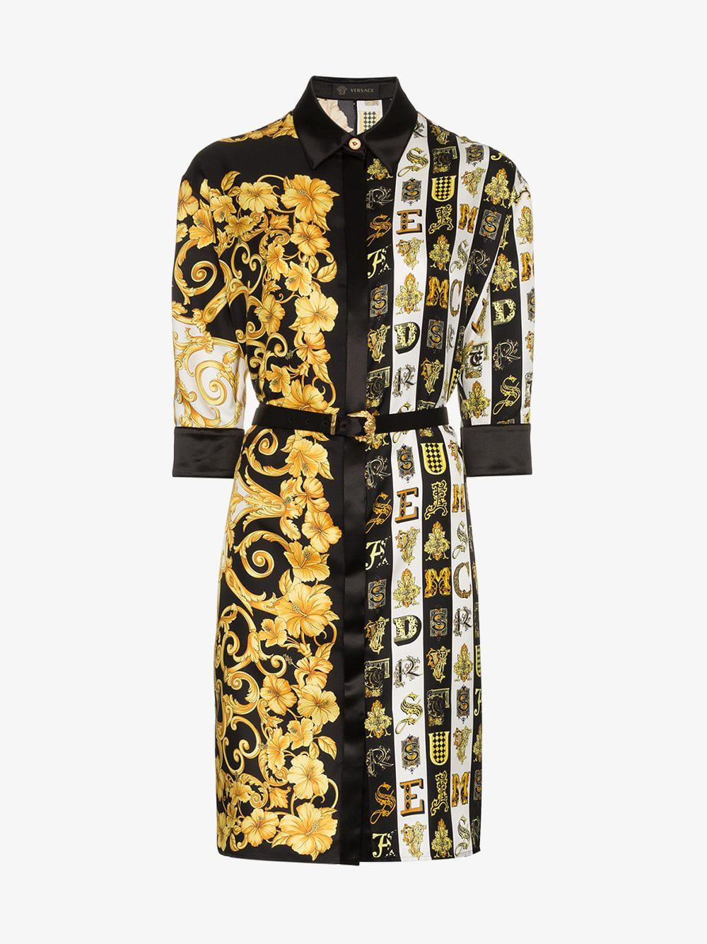 9989003fb318 Versace. Women s Baroque Print Belted Silk Shirt Dress