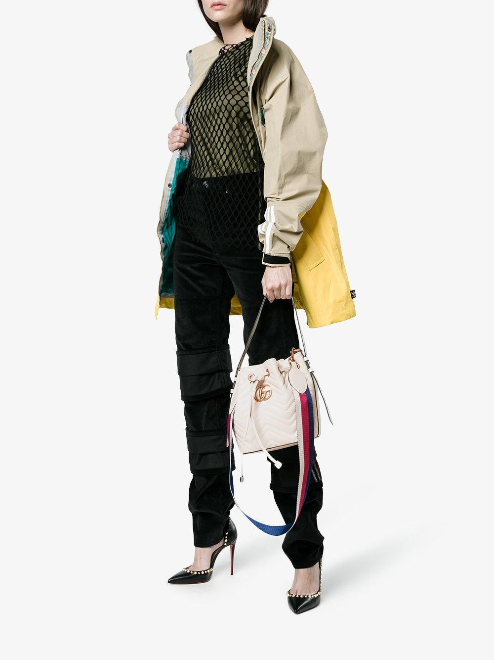 f746f64f0 Gucci Mini Marmont Bucket Bag - Lyst