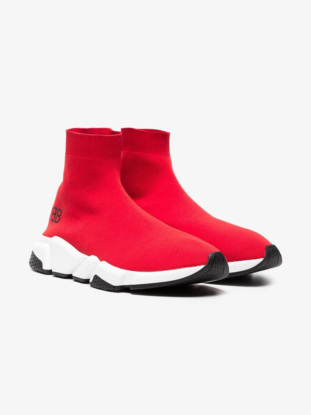 5ac0d580feb2 Lyst - Balenciaga Red Speed Low Sneakers in Red for Men