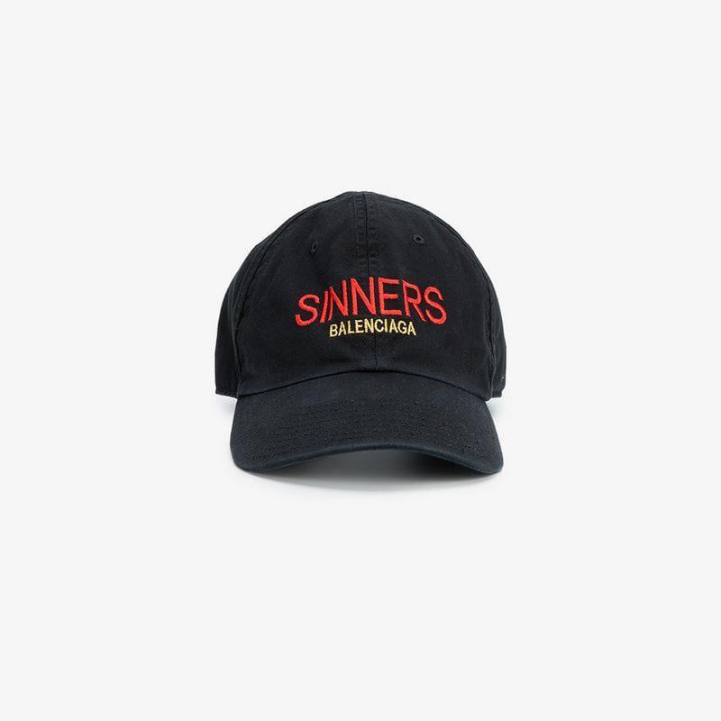 3c8f62f6c55 Lyst - Balenciaga Sinners Baseball Cap in Black for Men