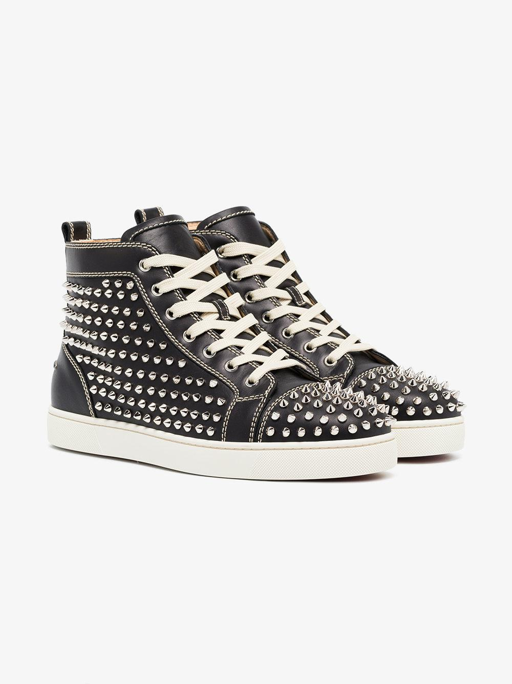 04d9fb77eebc Lyst - Christian Louboutin Louis Flat Spike High Top Sneaker in ...