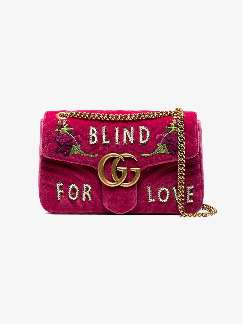 09fb041a0f6 Gucci Fuchsia Pink GG Marmont Medium Shoulder Bag - Lyst