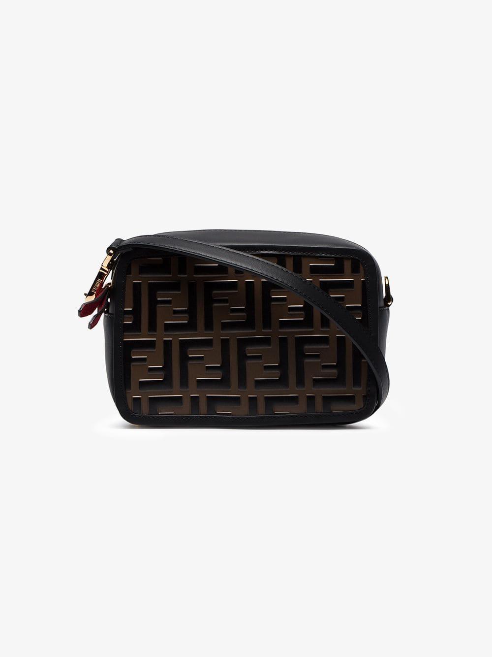 783804a83f1d Fendi Black Camera Case Leather Cross Body Bag in Black - Save 3% - Lyst
