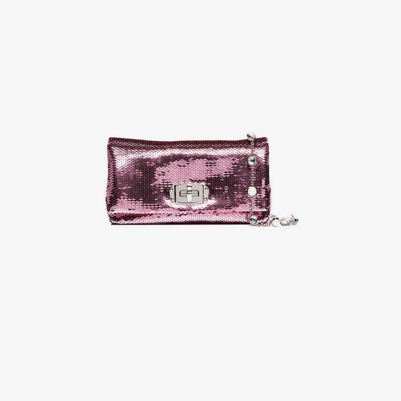 Lyst - Miu Miu Pink And Purple Iconic Crystal Leather Mini Bag in Pink 50137509d6f33