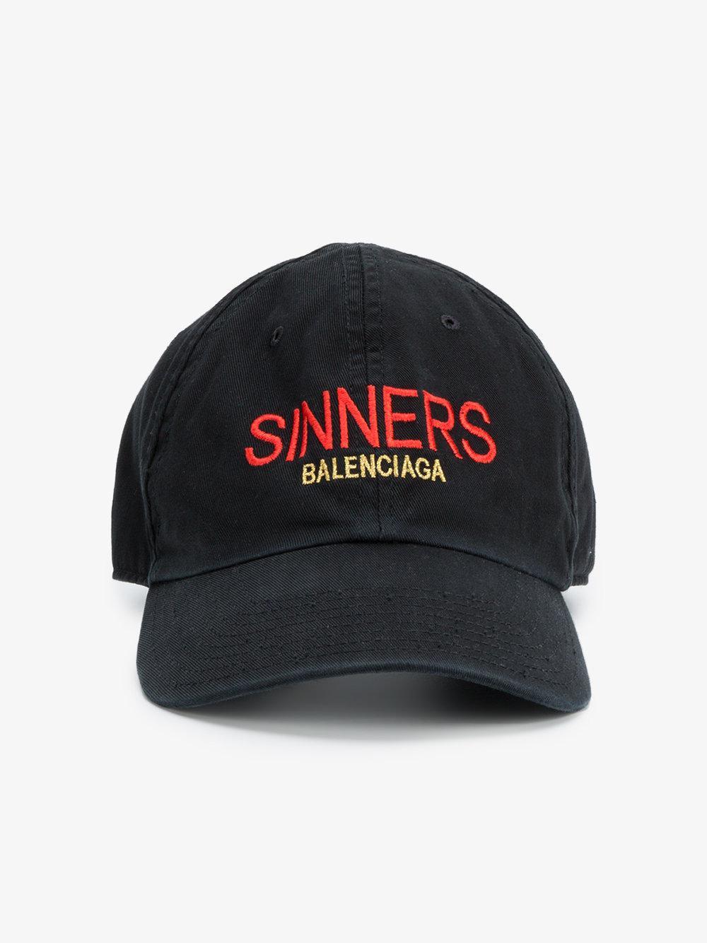 Sinners Embroidered Cotton-twill Baseball Cap Balenciaga njH9Uhow