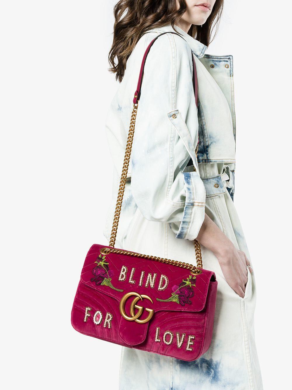 37531a168059 Gucci Fuchsia Pink GG Marmont Medium Shoulder Bag - Save 10% - Lyst
