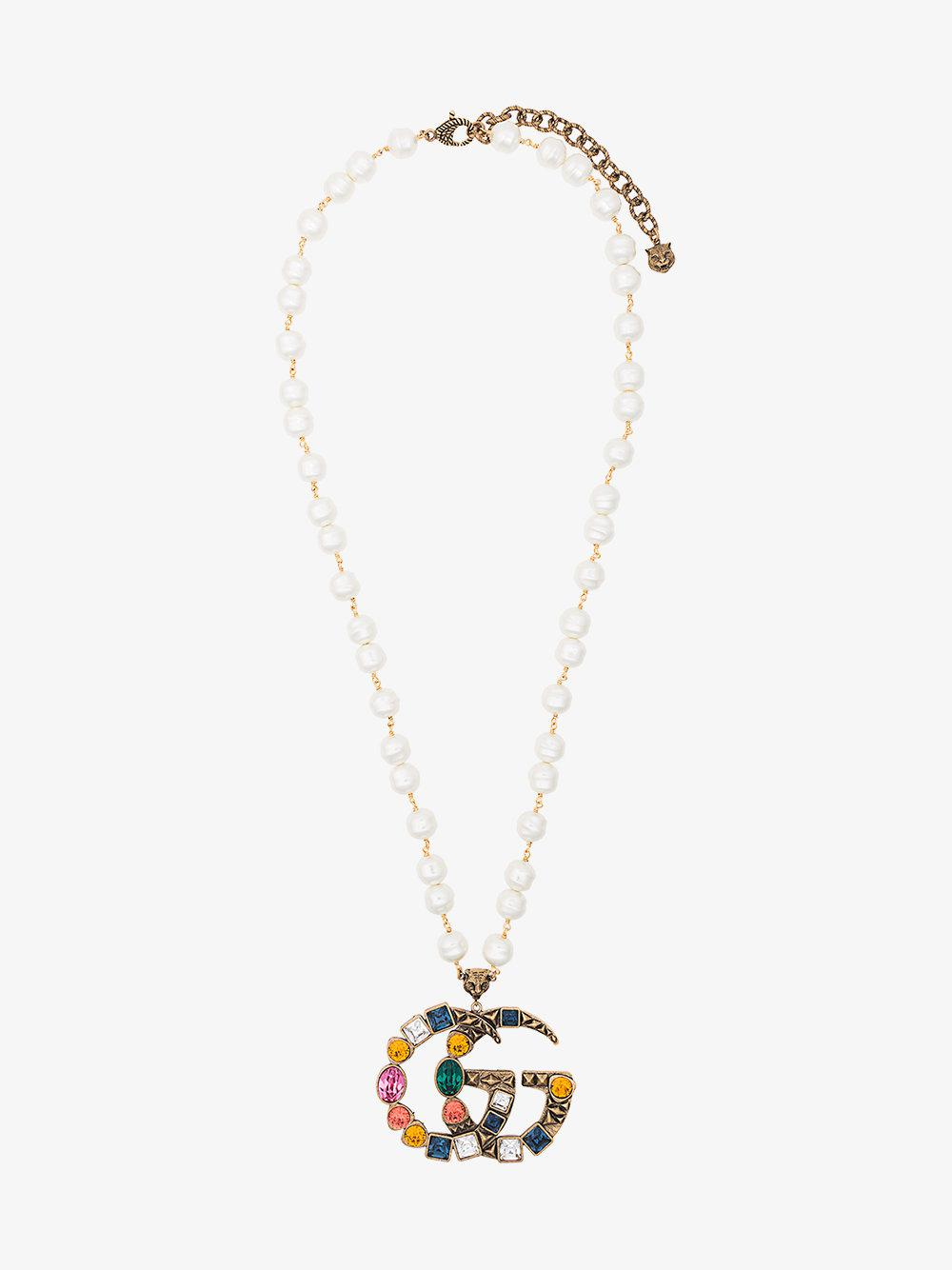 Gucci Butterfly crystal-embellished necklace t5iHjaO