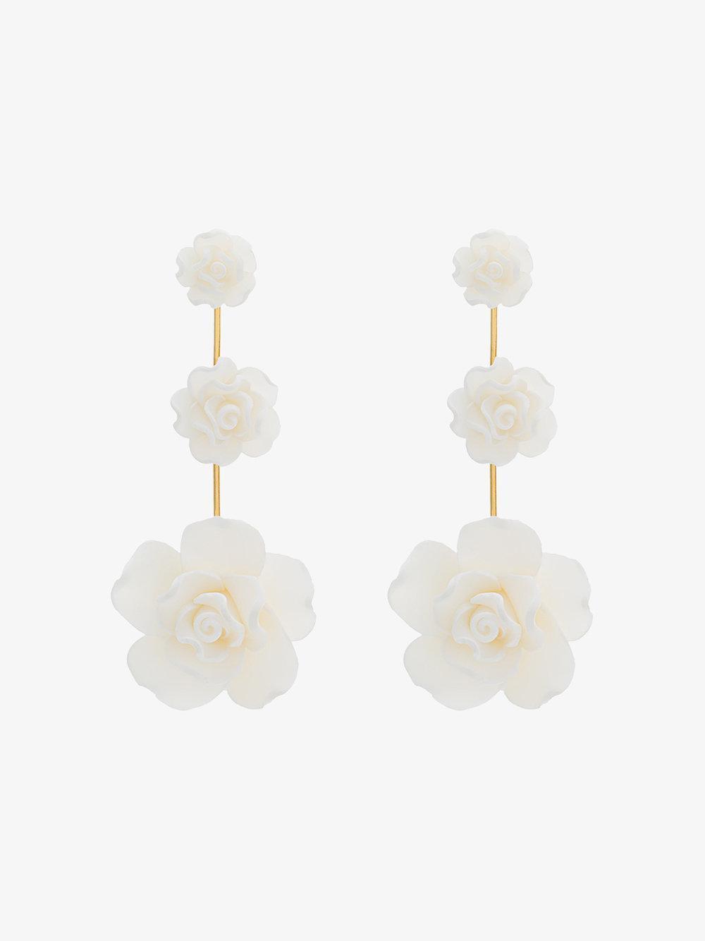 Dannijo Clock crystal pearl rose earrings 6rKzm3C