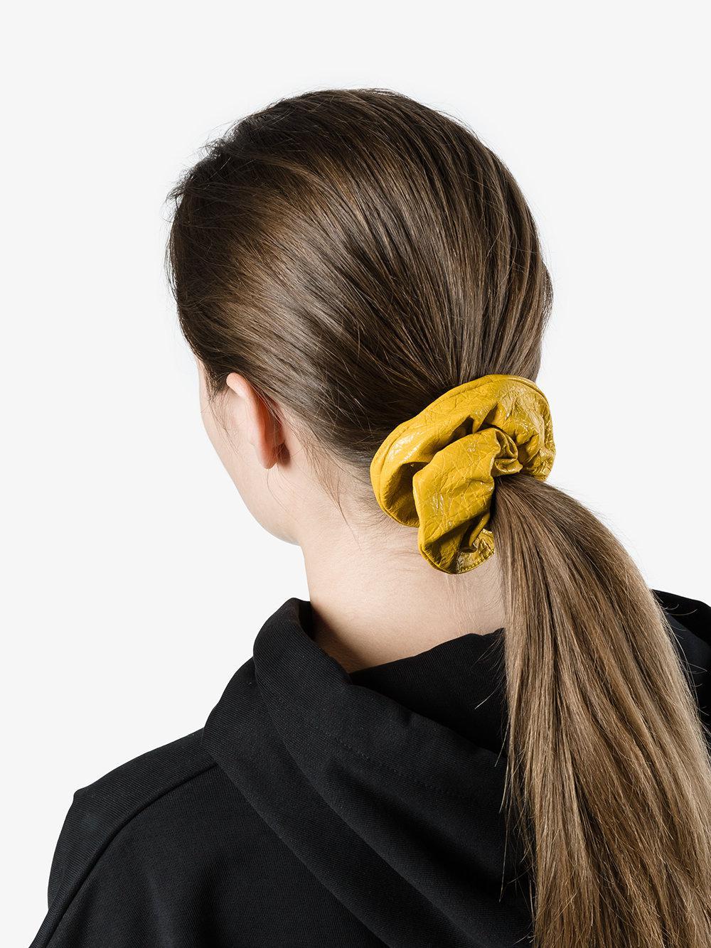 Balenciaga yellow Chouchou leather scrunchy 18FDQgq