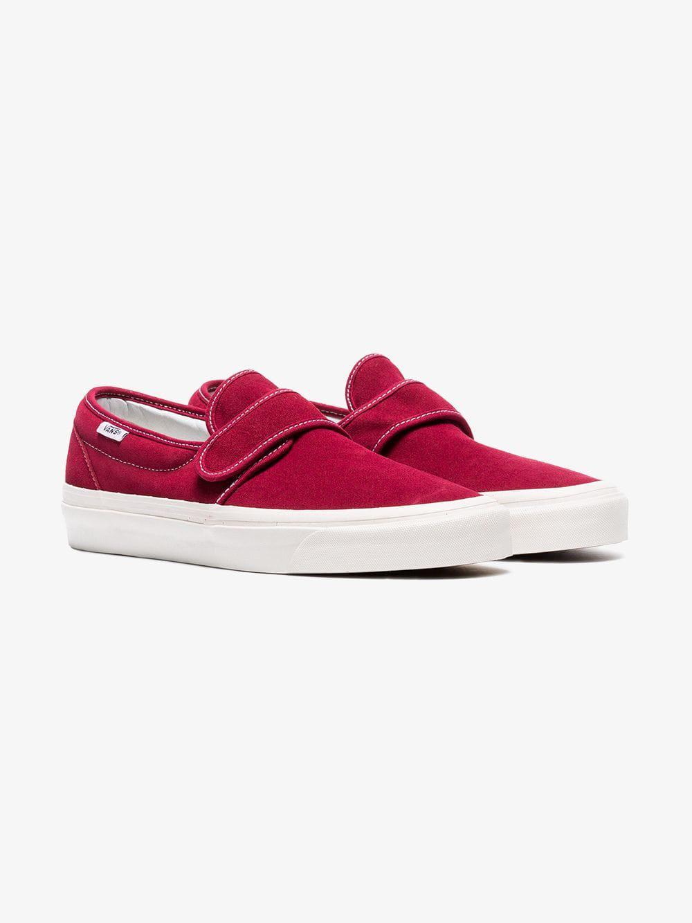 4d8f5ca876 Vans Burgundy 47 Slip On Suede Sneakers for Men - Lyst