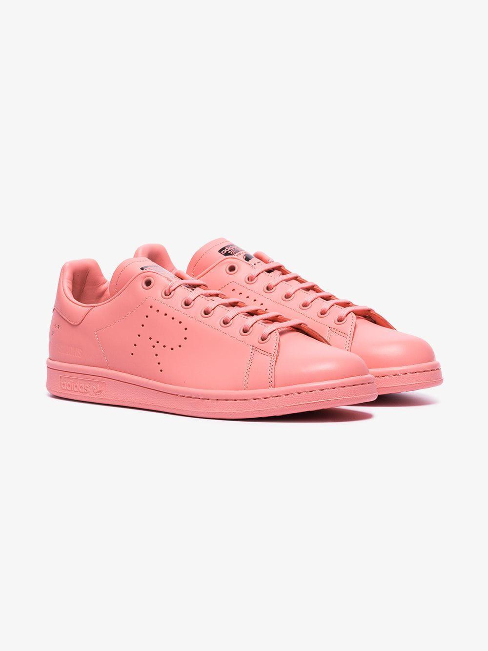 ab266e06cdf Adidas By Raf Simons - Pink X Raf Simons Stan Smith Leather Sneakers for  Men -. View fullscreen