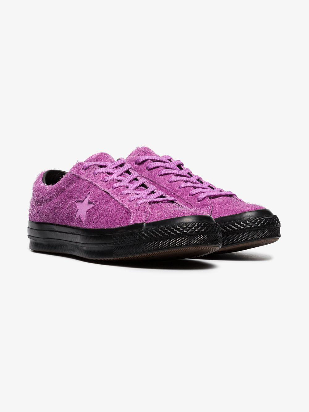 e4de00a8cea8 Lyst - Converse Purple One Star Fuzzy Sneakers in Purple for Men ...