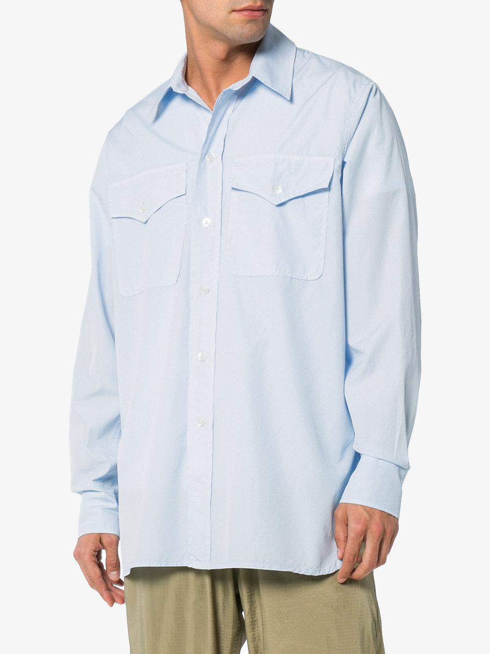 Xplor long sleeve cotton shirt - Blue Our Legacy Latest Collections For Sale Sale Release Dates j36Vy