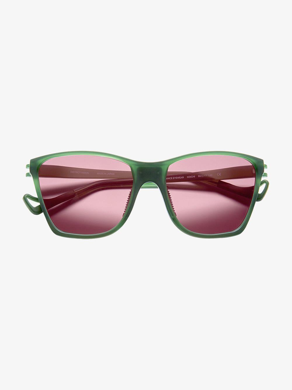 507411f4292 Lyst - District Vision Green Keiichi District Sky G15 Sunglasses in ...