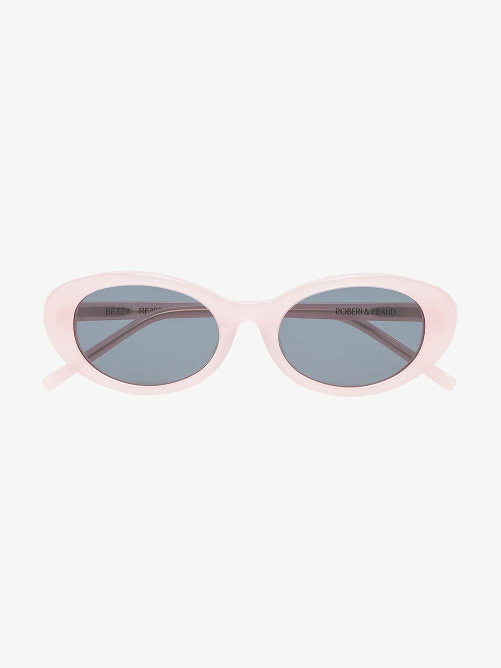 2ba683d9cd ROBERI AND FRAUD - Light Pink Betty Oval Sunglasses - Lyst. View fullscreen