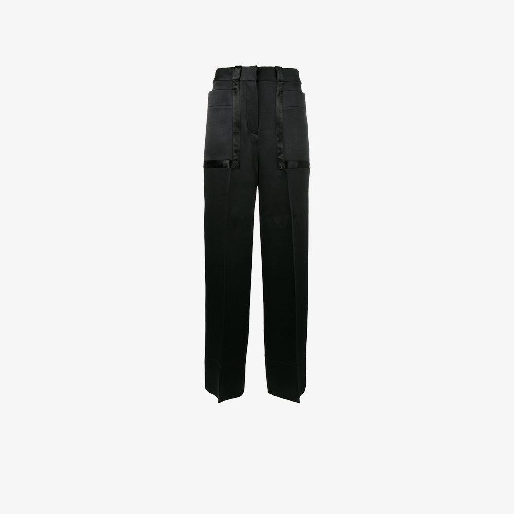 Cyrus Wide Leg Trousers - Black Roksanda Ilincic 64hHv
