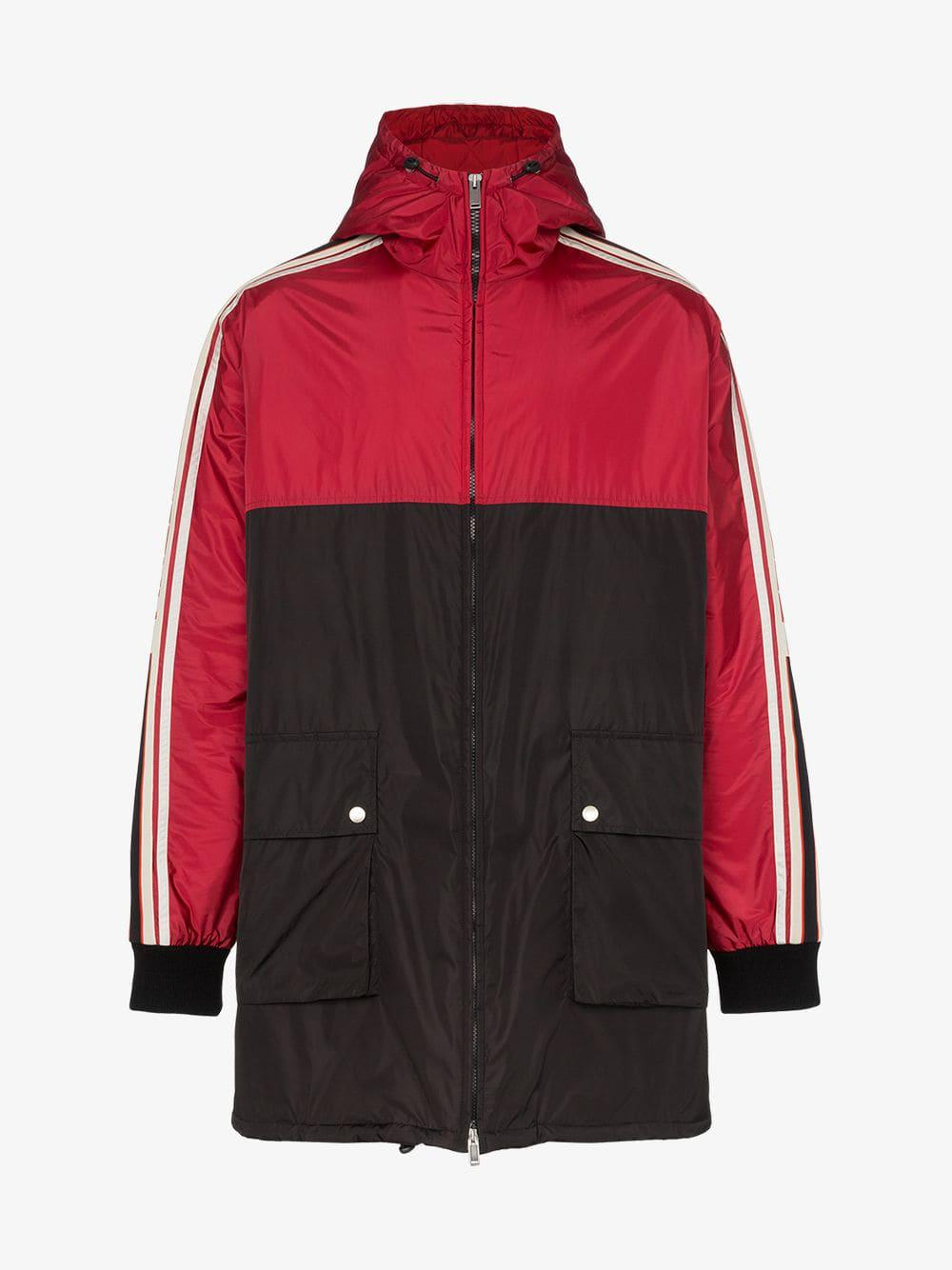 e69d9972d9ae Lyst - Gucci Quilted Lining Hooded Parka Jacket in Red for Men