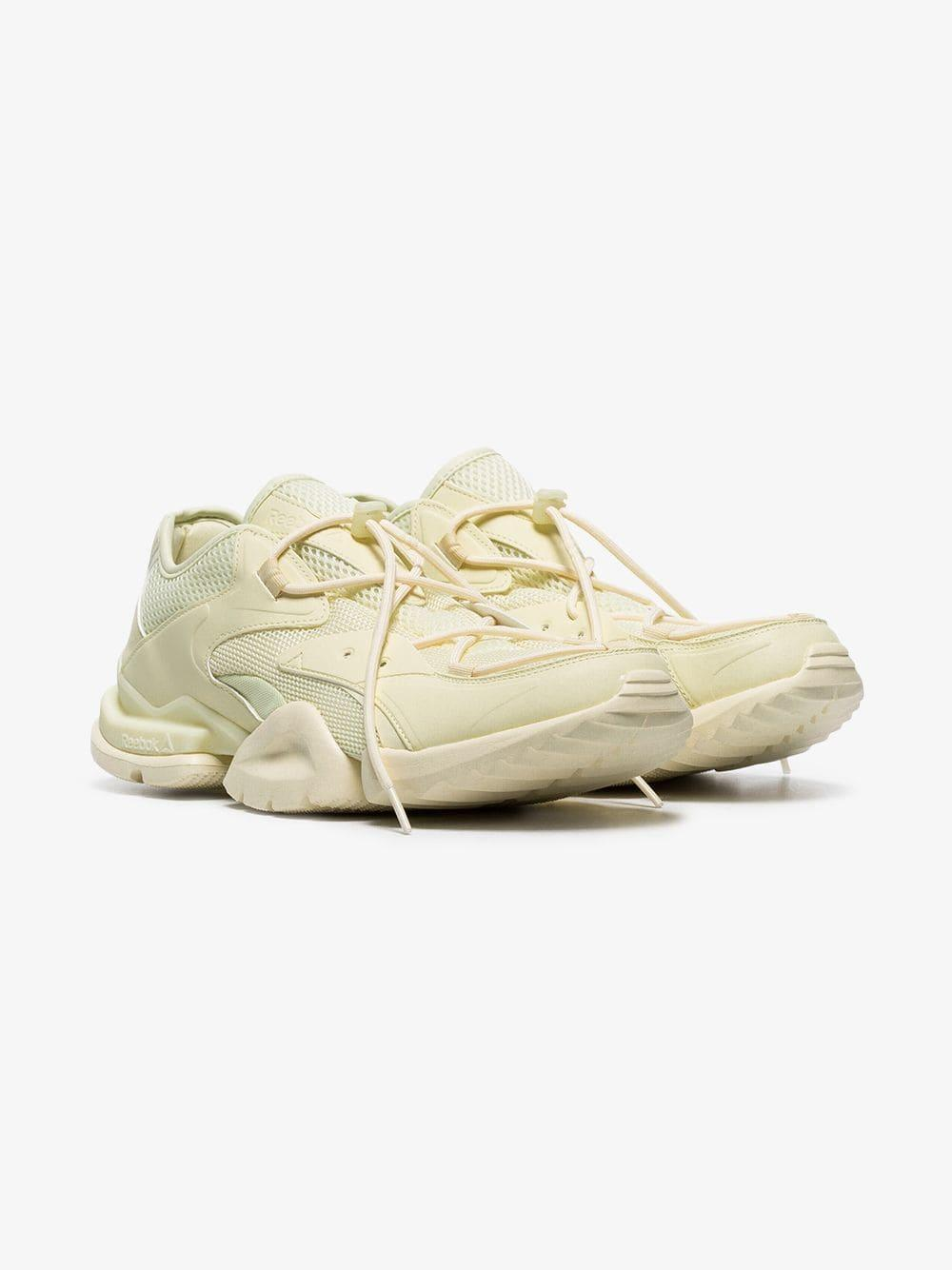 b69c5fb1719fd9 Reebok Run 96 Multi-texture Lace-up Sneakers in Natural for Men - Lyst