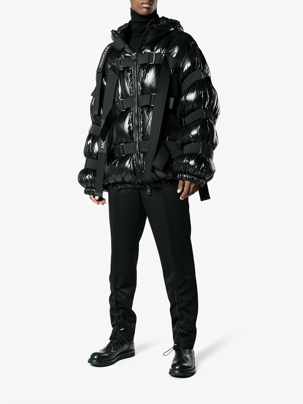 moncler coat with straps