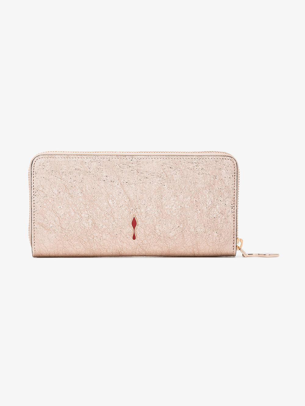 rose gold Panettone leather wallet Christian Louboutin l4zNRedeHk