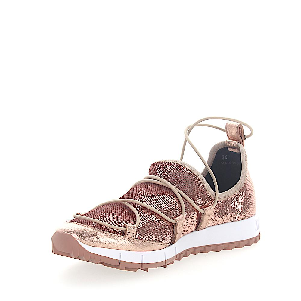 Jimmy choo Sneakers Slip-On ANDREA sequins mesh rosè leather metallic Sast Online rC9hPt
