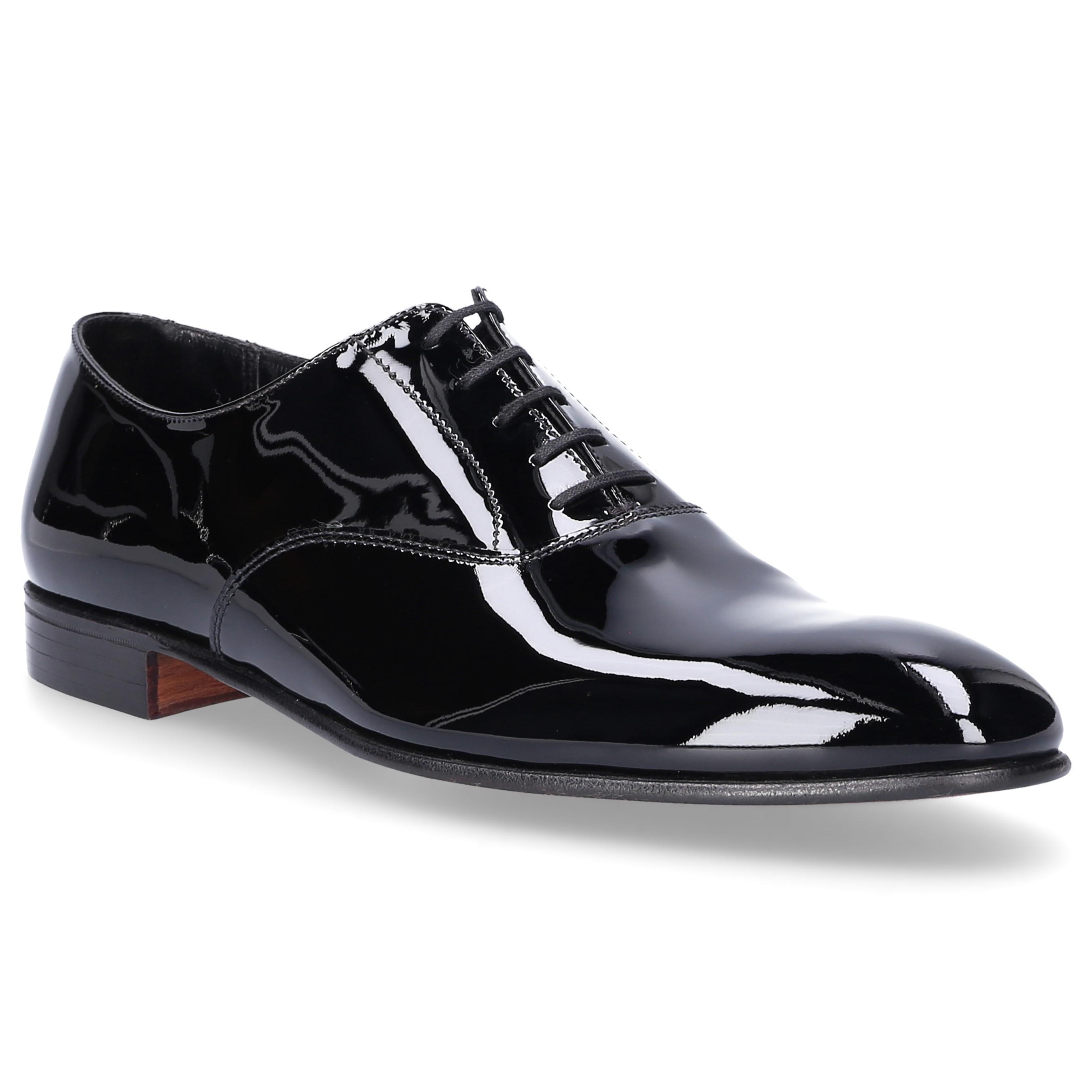 3083e84bf7f Crockett and Jones Oxford Cheam Patent Leather Black in Black for ...