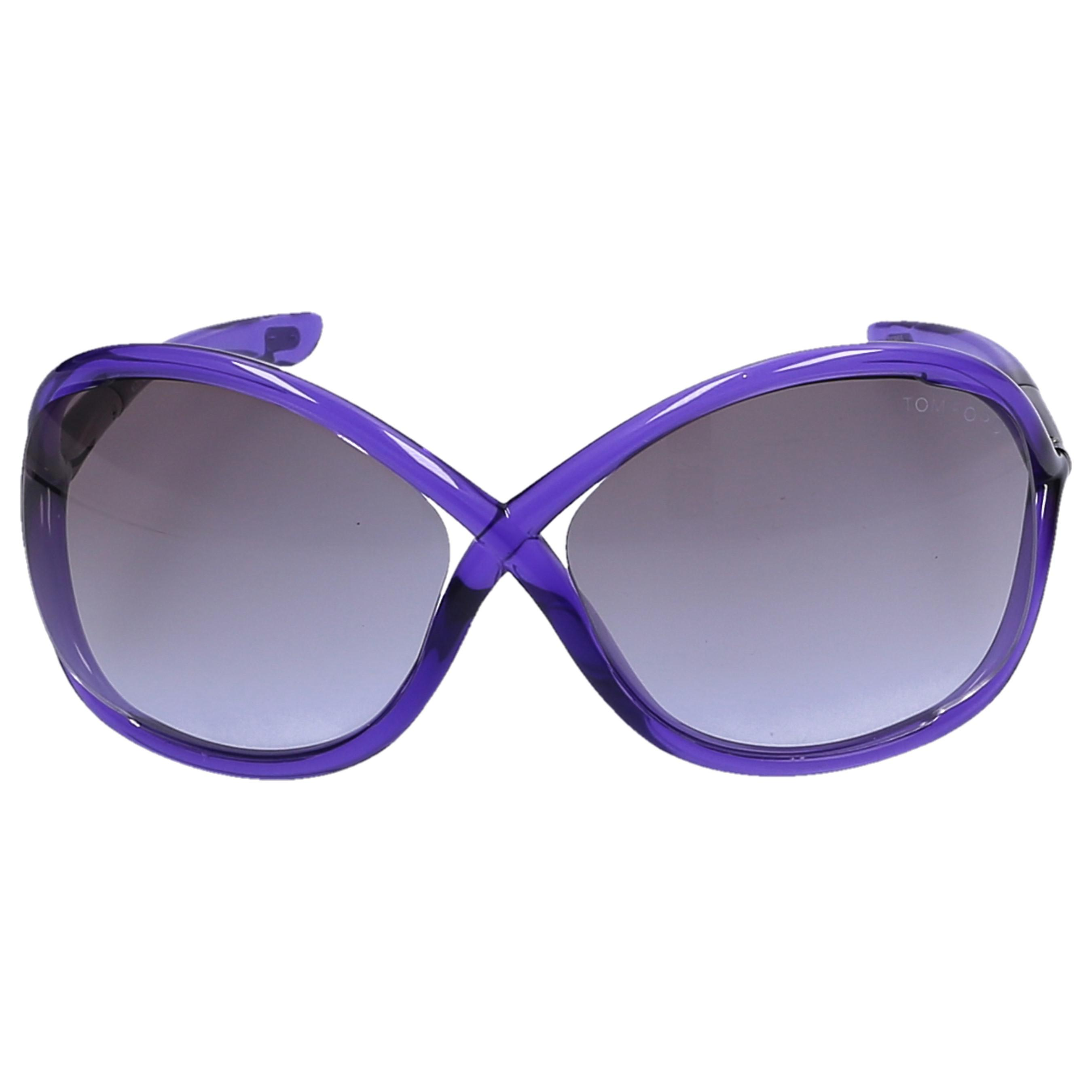 d2a6871be6af Lyst - Tom Ford Sunglasses Oversize 9 Acetate Purple in Gray