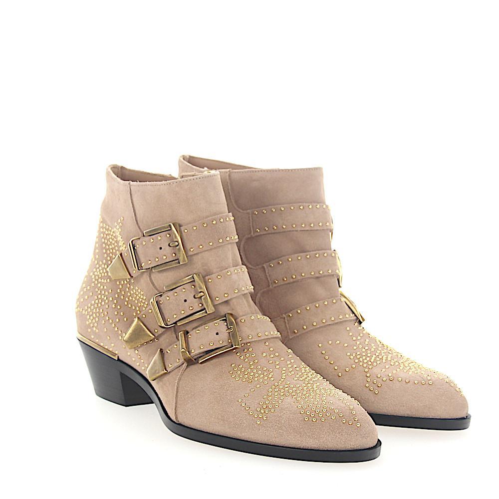 Chloé Boots SUSANNA suede dark studs gold-floral fWR9t