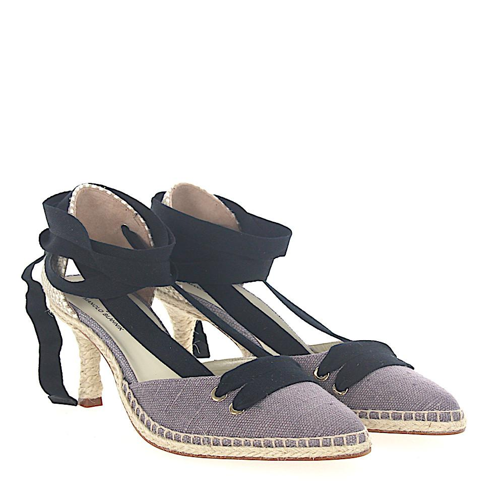 Manolo Blahnik Pumps Espadrilles MANOLO MEDIUM textile beige