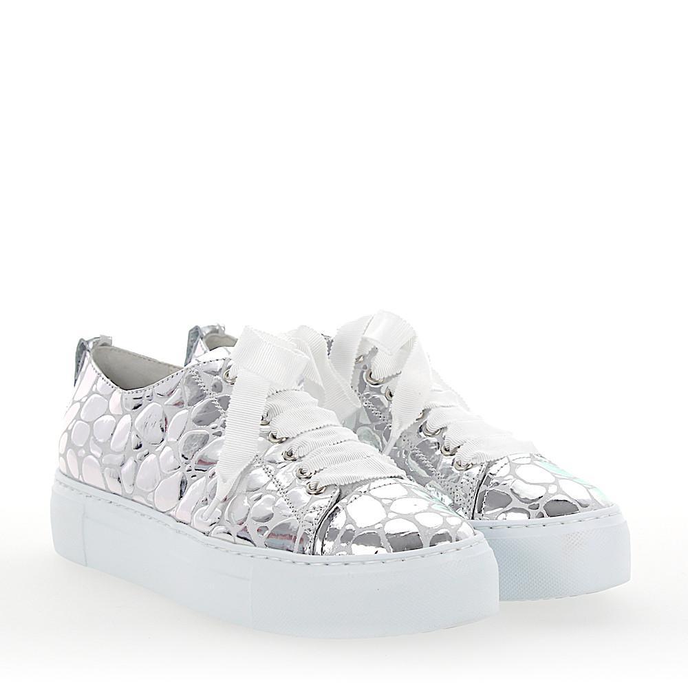 Sneakers D925065 Plateau leather metallic silver stone pattern Attilio Giusti Leombruni gu2Dq