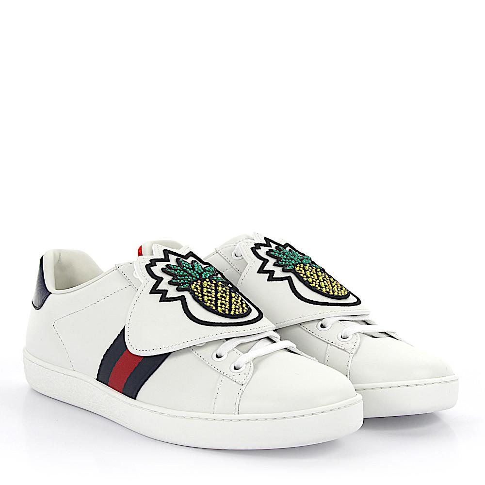 wbcJ0MVuP4 Ace Sneakers leather removable patch LOVE aPF4J