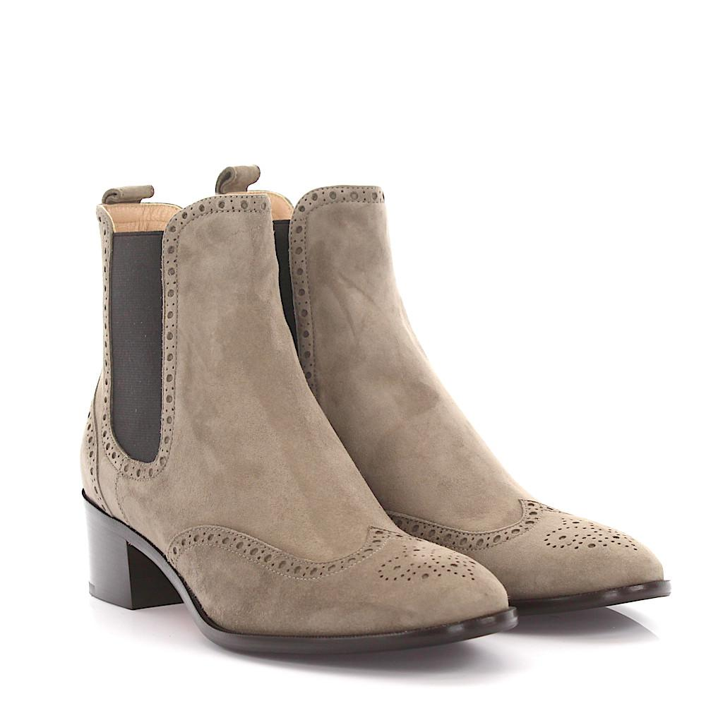 UNüTZER Boots brogue 7471 suede taupe wsWe1x22
