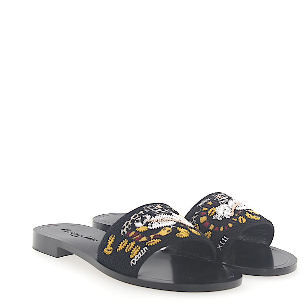 Dior Sandals TAROT fabric embroidery H4S4t07g