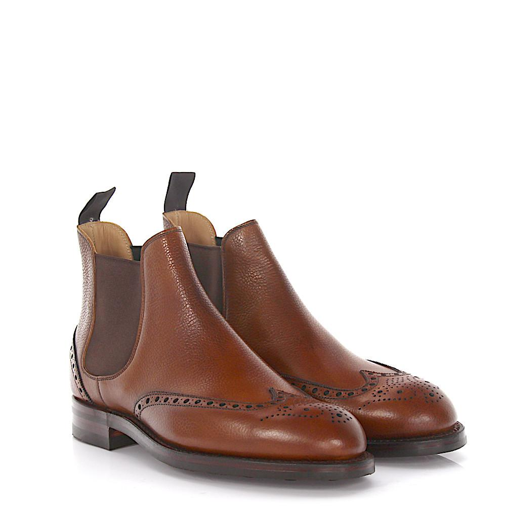 Crockett & Jones Chelsea Boots CHELSEA 8 Leather Scotchgrain Goodyear Welted YokreJtM