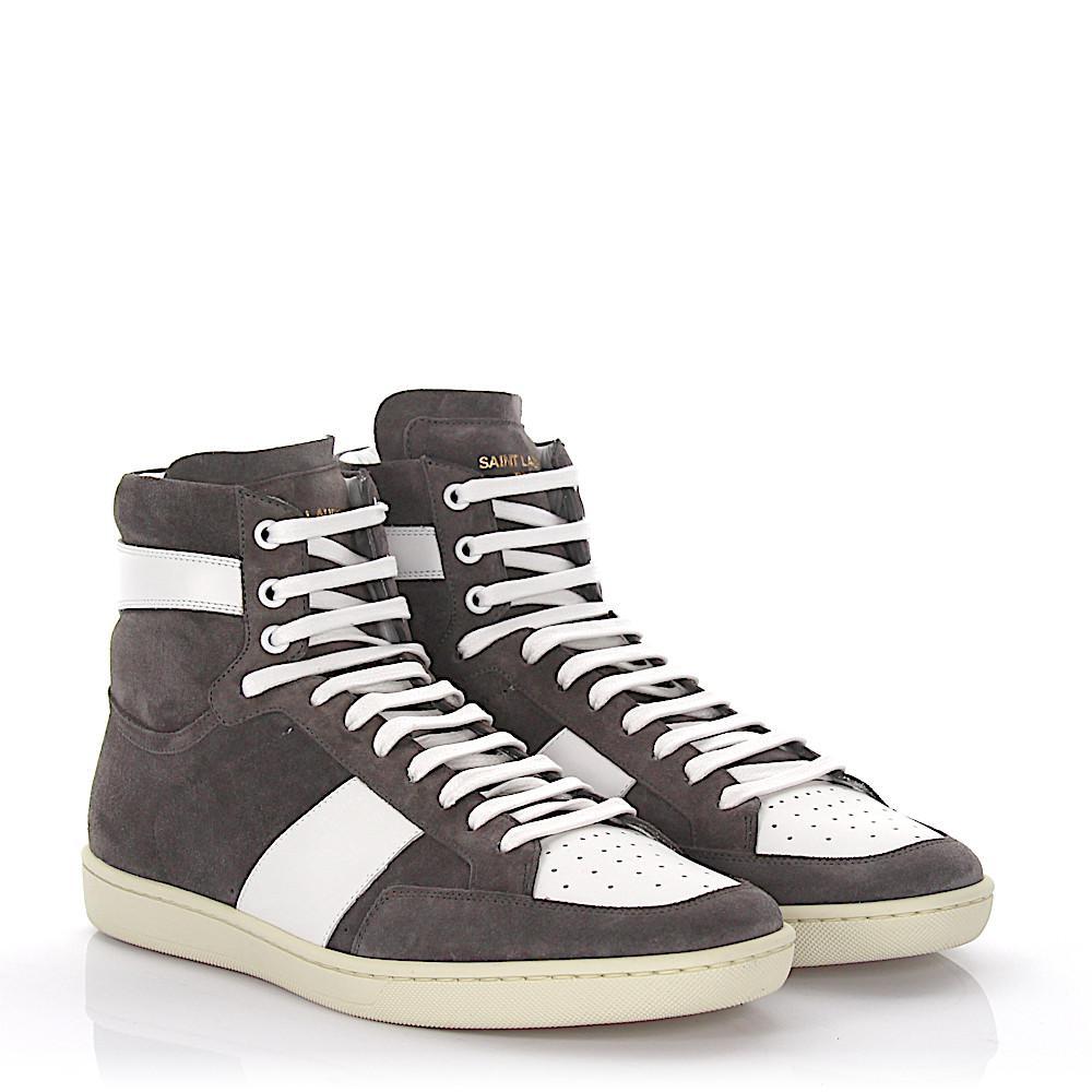 Saint LaurentSneaker SL/10H high suede leather white ka9vTBmFl