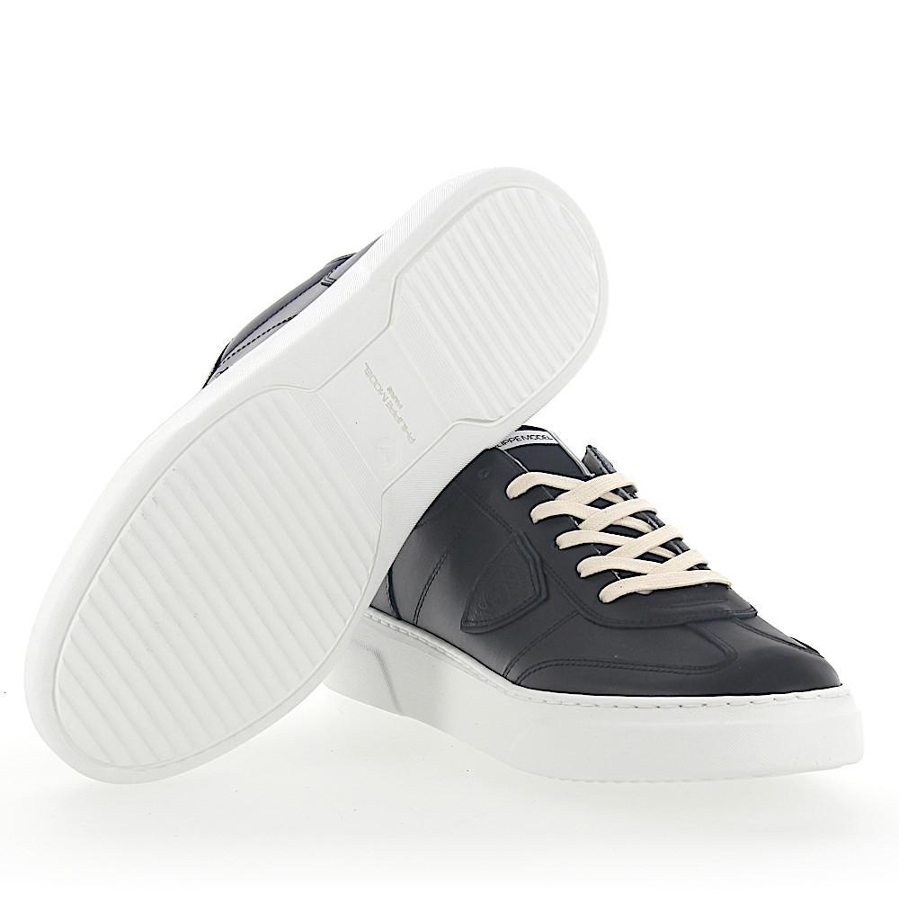 Lyst - Philippe Model Sneaker Temple Leather Black in Black for Men f799fa77f8