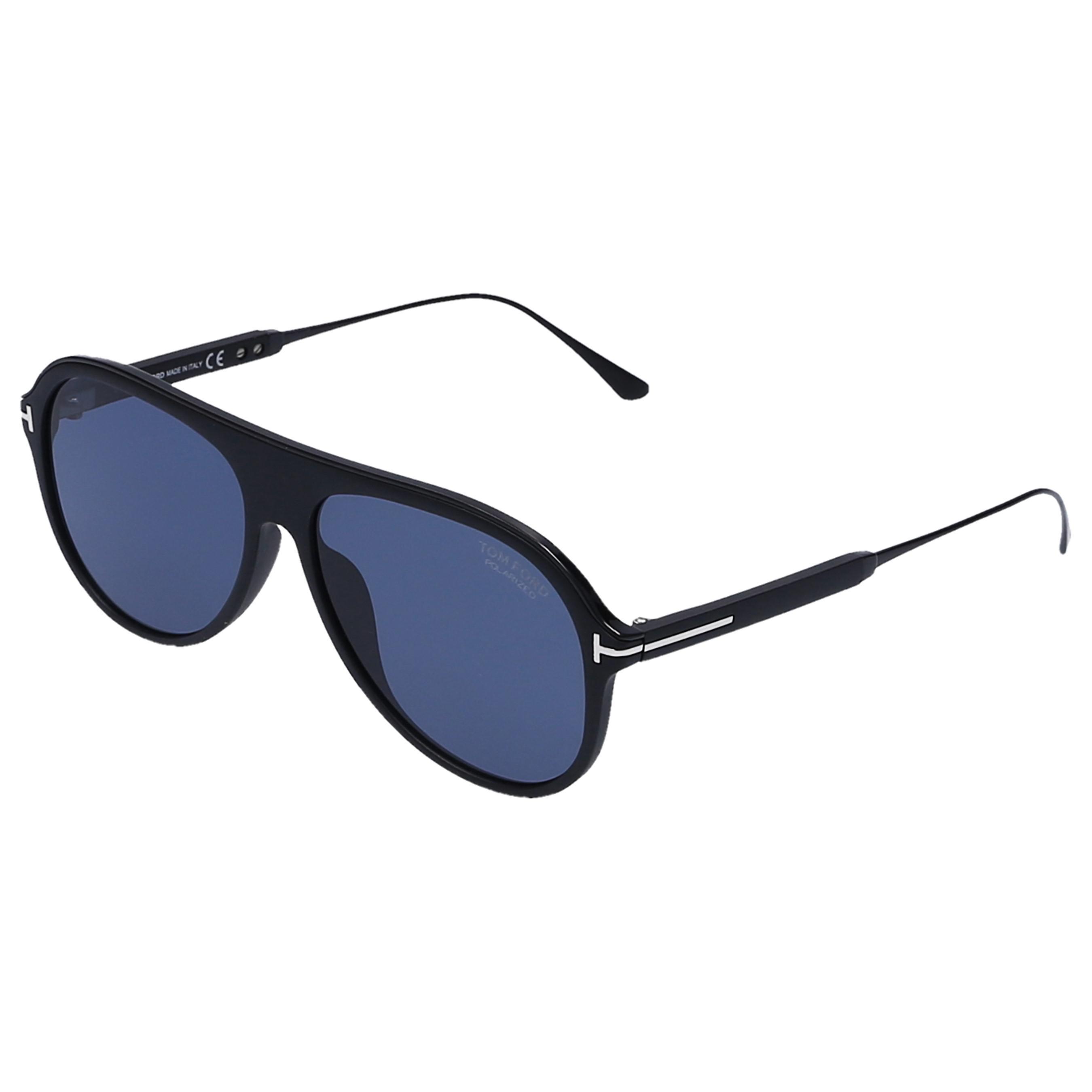 8d901f09b22e6 Lyst - Tom Ford Unisex Sunglasses Aviator 624 Acetate Black in Blue ...
