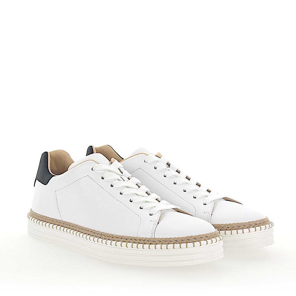 Sneakers R260 leather white black Hogan irRytH