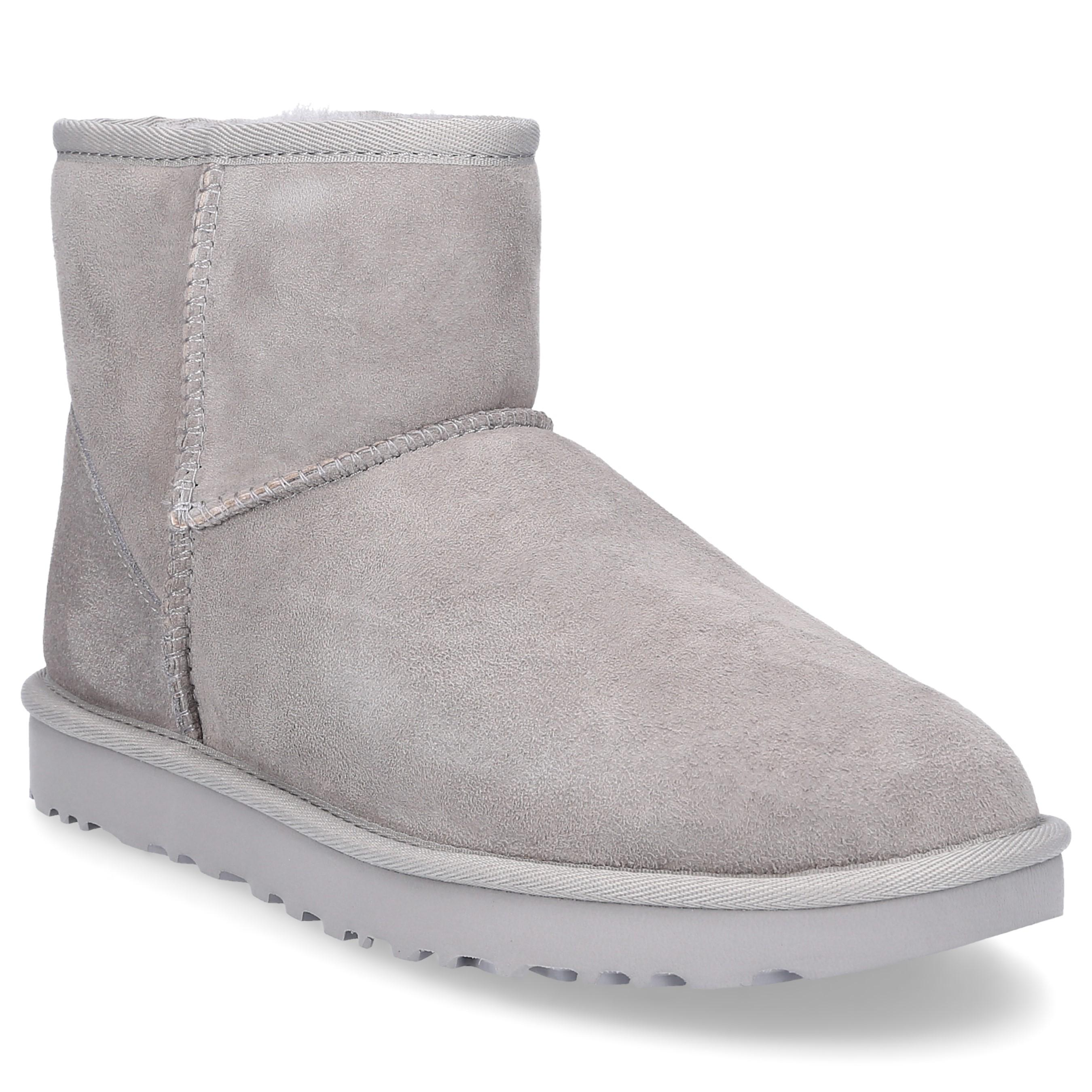 852a23dfcc5 UGG Ankle Boots Classic Mini Ii Suede Logo Grey in Gray - Lyst