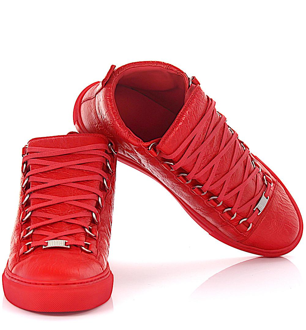 Red Balenciaga Shoe High Top