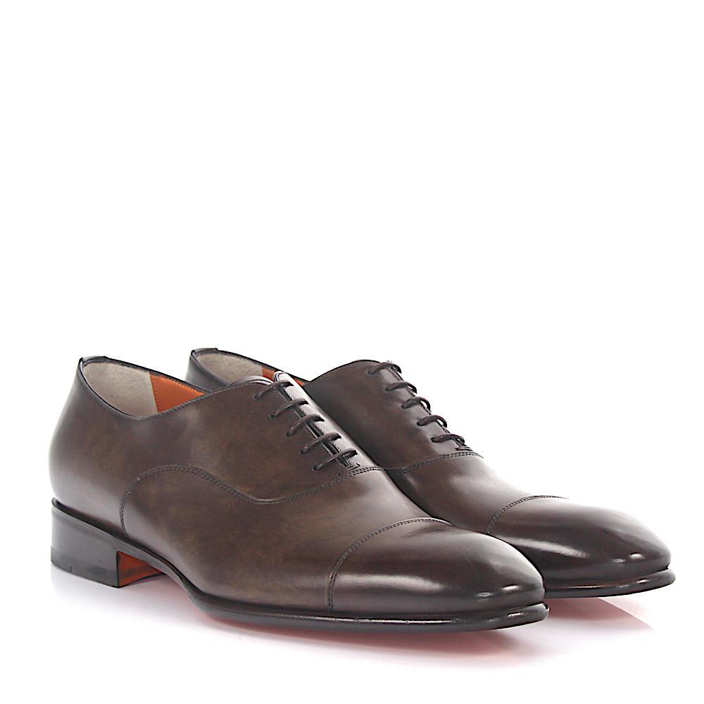 santoni Hand-Stitched Leather Oxfords McgVuiE