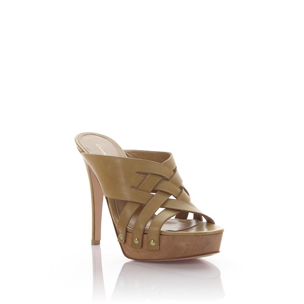 Platform Sandals GI3958 leather beige Gianvito Rossi KvWRlMC